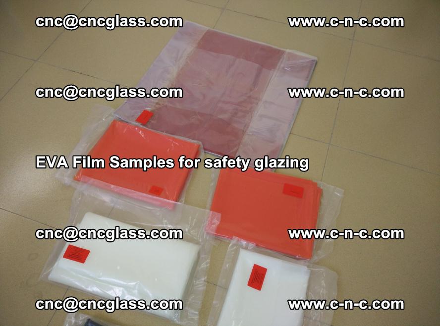 Ethylene Vinyl Acetate EVA FILM INTERLAYER samples for laminated safety glass (79)
