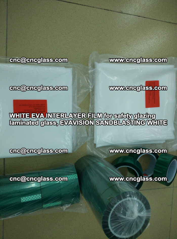 WHITE EVA INTERLAYER FILM for safety glazing laminated glass, EVAVISION SANDBLASTING WHITE (13)