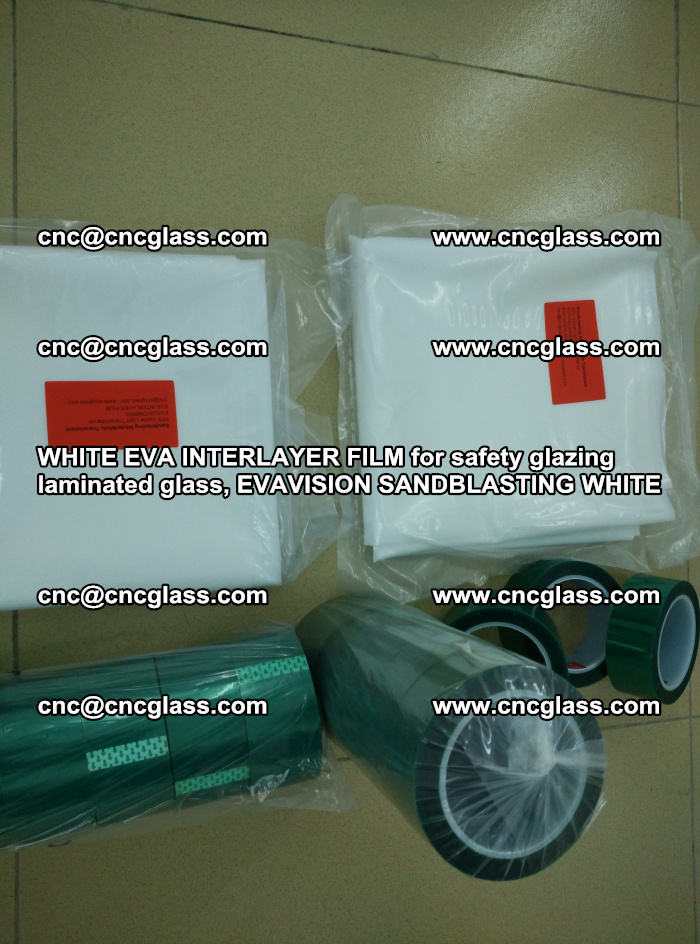 WHITE EVA INTERLAYER FILM for safety glazing laminated glass, EVAVISION SANDBLASTING WHITE (16)