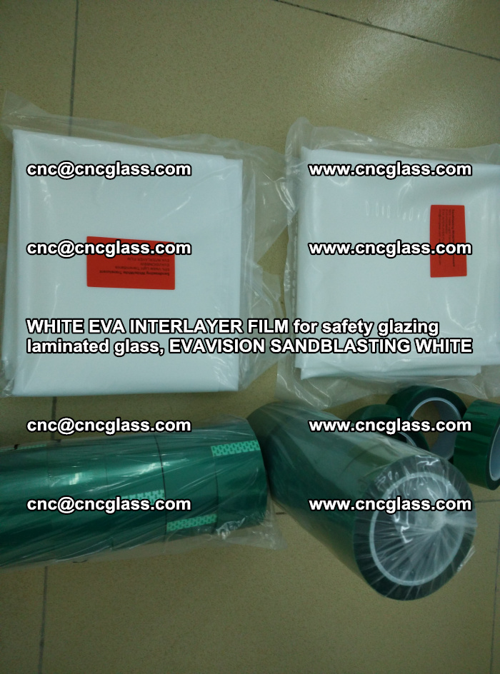 WHITE EVA INTERLAYER FILM for safety glazing laminated glass, EVAVISION SANDBLASTING WHITE (18)