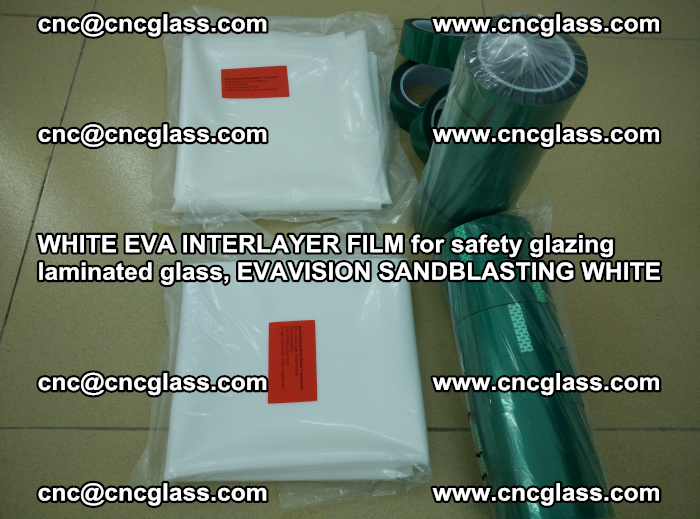 WHITE EVA INTERLAYER FILM for safety glazing laminated glass, EVAVISION SANDBLASTING WHITE (20)