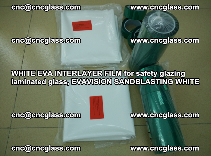 WHITE EVA INTERLAYER FILM for safety glazing laminated glass, EVAVISION SANDBLASTING WHITE (25)
