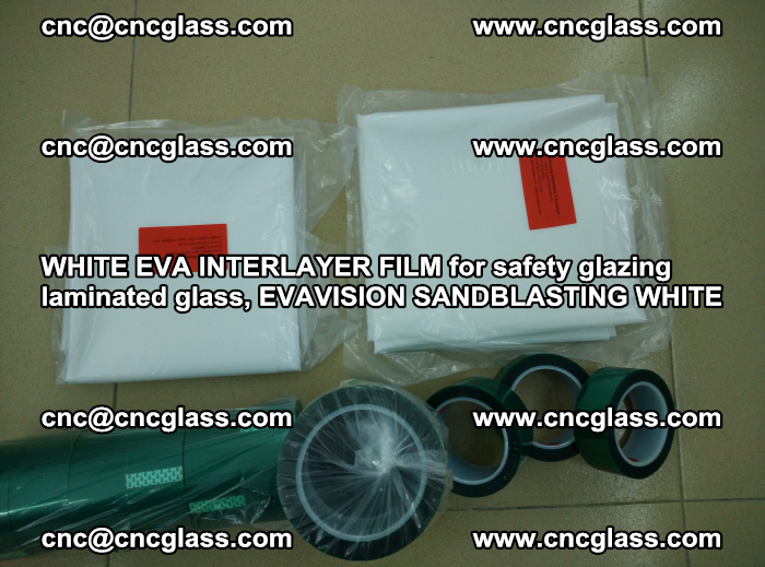 WHITE EVA INTERLAYER FILM for safety glazing laminated glass, EVAVISION SANDBLASTING WHITE (34)