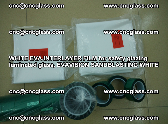 WHITE EVA INTERLAYER FILM for safety glazing laminated glass, EVAVISION SANDBLASTING WHITE (35)