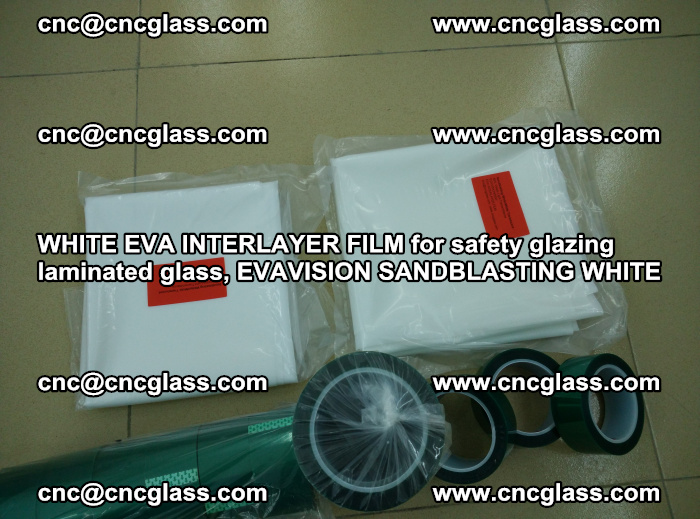 WHITE EVA INTERLAYER FILM for safety glazing laminated glass, EVAVISION SANDBLASTING WHITE (37)