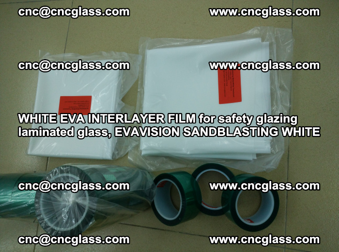 WHITE EVA INTERLAYER FILM for safety glazing laminated glass, EVAVISION SANDBLASTING WHITE (41)