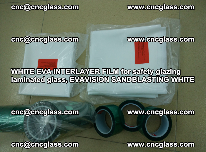 WHITE EVA INTERLAYER FILM for safety glazing laminated glass, EVAVISION SANDBLASTING WHITE (42)