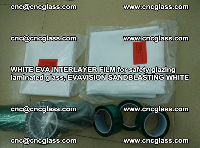 WHITE EVA INTERLAYER FILM for safety glazing laminated glass, EVAVISION SANDBLASTING WHITE (44)