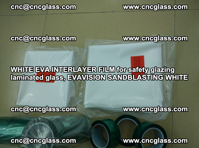 WHITE EVA INTERLAYER FILM for safety glazing laminated glass, EVAVISION SANDBLASTING WHITE (46)
