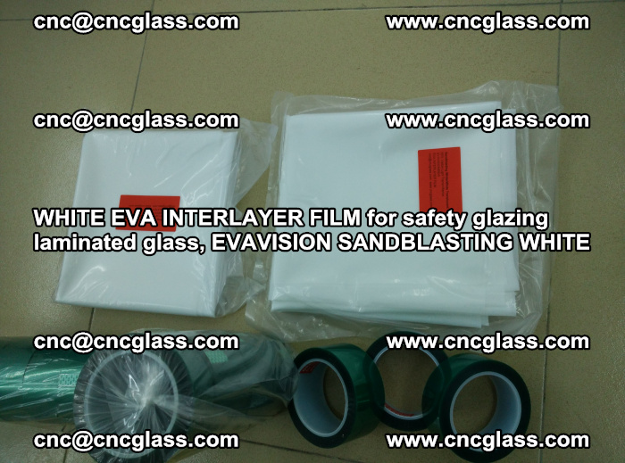 WHITE EVA INTERLAYER FILM for safety glazing laminated glass, EVAVISION SANDBLASTING WHITE (47)