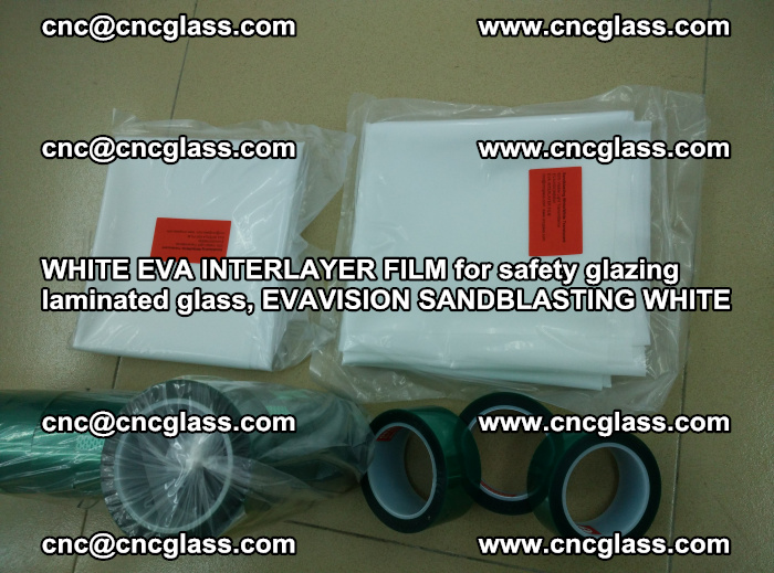 WHITE EVA INTERLAYER FILM for safety glazing laminated glass, EVAVISION SANDBLASTING WHITE (48)