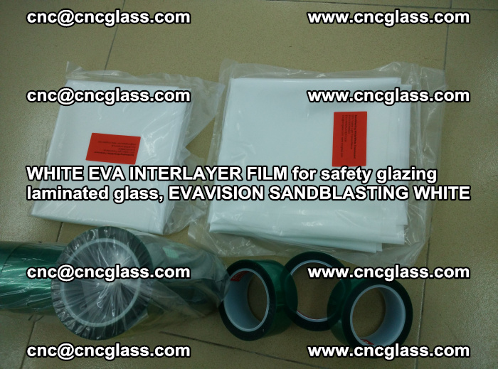 WHITE EVA INTERLAYER FILM for safety glazing laminated glass, EVAVISION SANDBLASTING WHITE (49)
