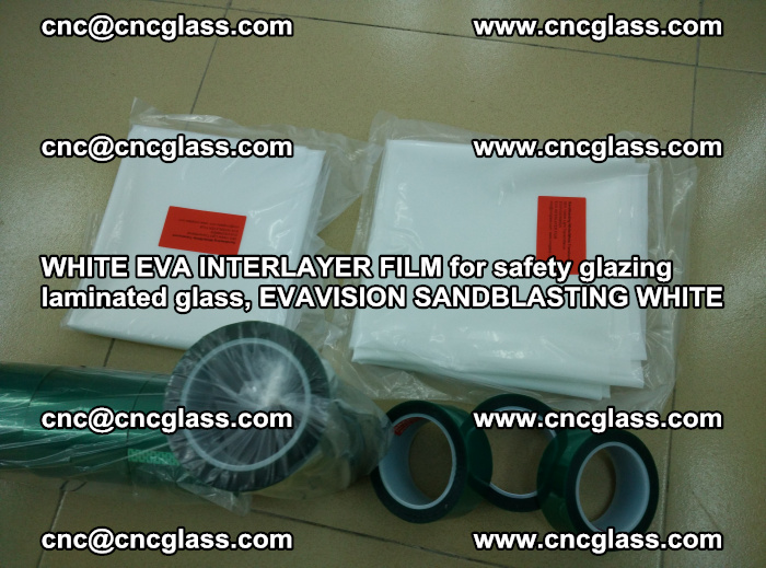 WHITE EVA INTERLAYER FILM for safety glazing laminated glass, EVAVISION SANDBLASTING WHITE (50)