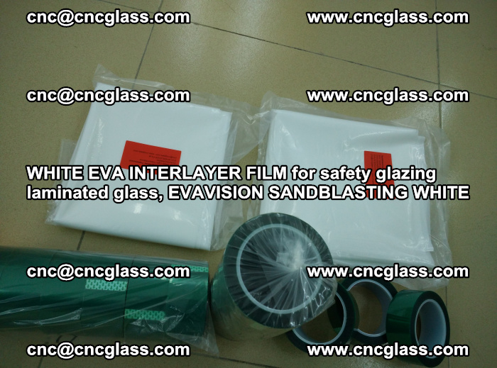 WHITE EVA INTERLAYER FILM for safety glazing laminated glass, EVAVISION SANDBLASTING WHITE (53)