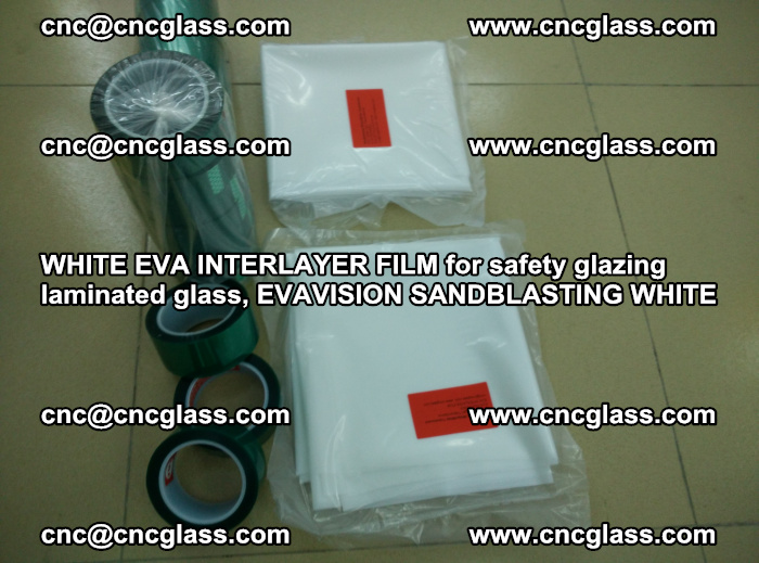 WHITE EVA INTERLAYER FILM for safety glazing laminated glass, EVAVISION SANDBLASTING WHITE (54)