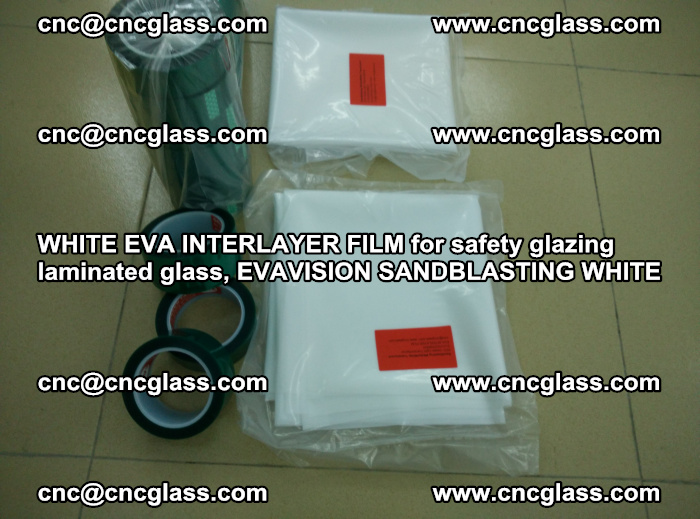 WHITE EVA INTERLAYER FILM for safety glazing laminated glass, EVAVISION SANDBLASTING WHITE (55)