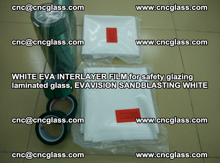 WHITE EVA INTERLAYER FILM for safety glazing laminated glass, EVAVISION SANDBLASTING WHITE (59)