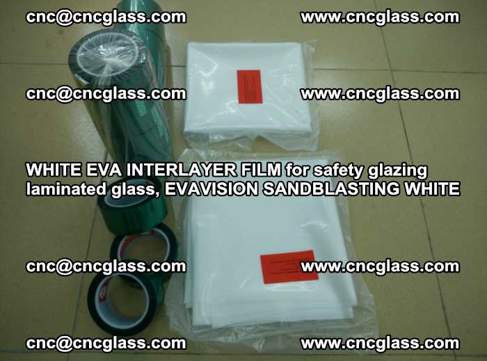 WHITE EVA INTERLAYER FILM for safety glazing laminated glass, EVAVISION SANDBLASTING WHITE (60)
