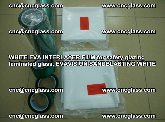 WHITE EVA INTERLAYER FILM for safety glazing laminated glass, EVAVISION SANDBLASTING WHITE (62)