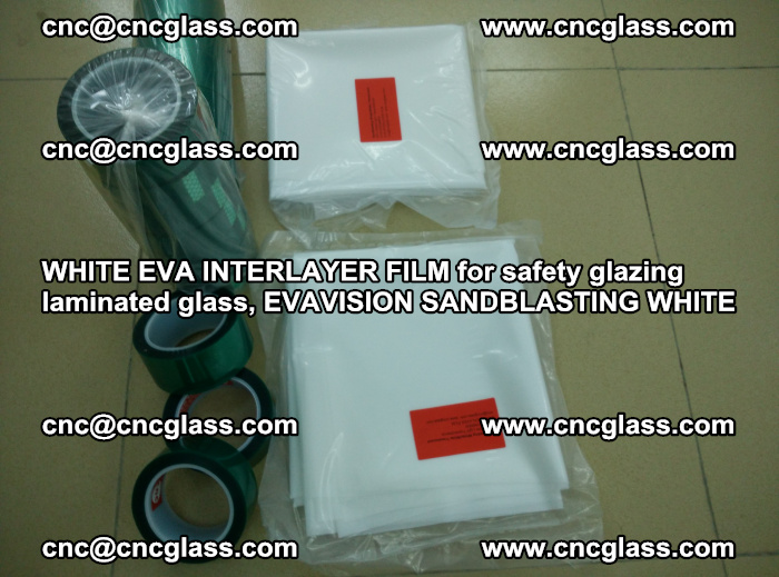 WHITE EVA INTERLAYER FILM for safety glazing laminated glass, EVAVISION SANDBLASTING WHITE (63)