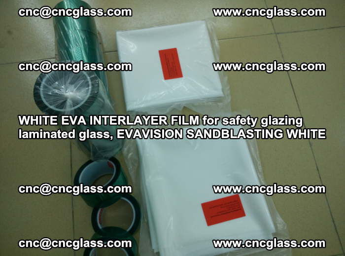WHITE EVA INTERLAYER FILM for safety glazing laminated glass, EVAVISION SANDBLASTING WHITE (65)
