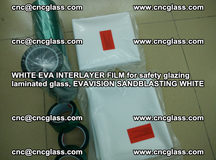 WHITE EVA INTERLAYER FILM for safety glazing laminated glass, EVAVISION SANDBLASTING WHITE (66)
