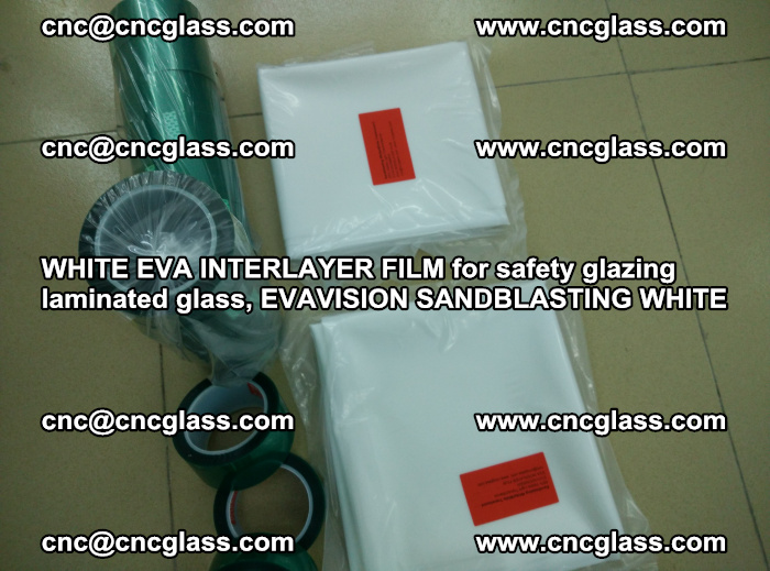 WHITE EVA INTERLAYER FILM for safety glazing laminated glass, EVAVISION SANDBLASTING WHITE (69)