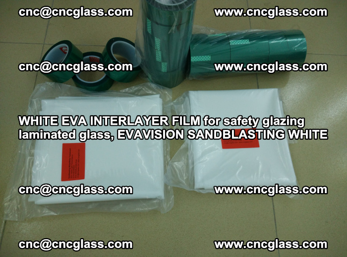 WHITE EVA INTERLAYER FILM for safety glazing laminated glass, EVAVISION SANDBLASTING WHITE (72)
