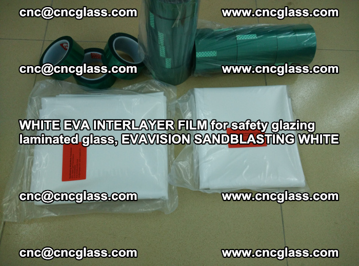 WHITE EVA INTERLAYER FILM for safety glazing laminated glass, EVAVISION SANDBLASTING WHITE (73)