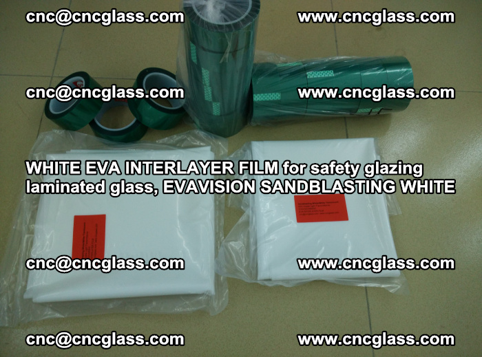 WHITE EVA INTERLAYER FILM for safety glazing laminated glass, EVAVISION SANDBLASTING WHITE (76)
