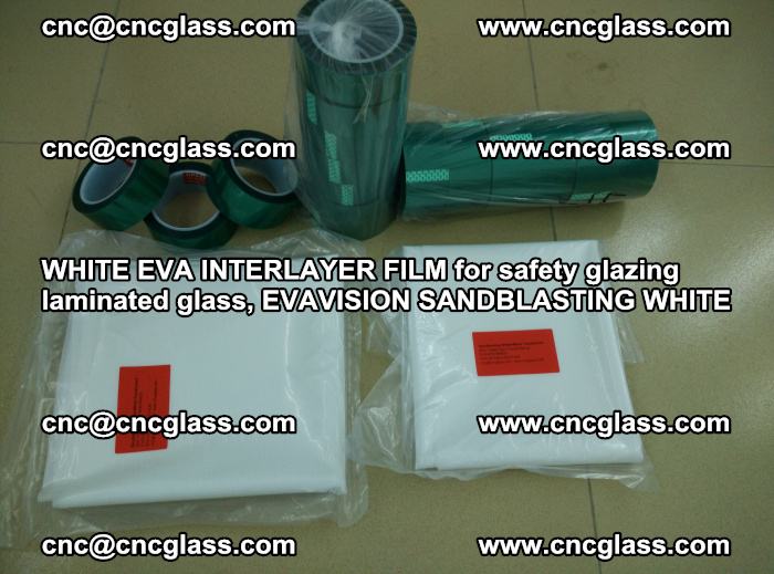 WHITE EVA INTERLAYER FILM for safety glazing laminated glass, EVAVISION SANDBLASTING WHITE (77)