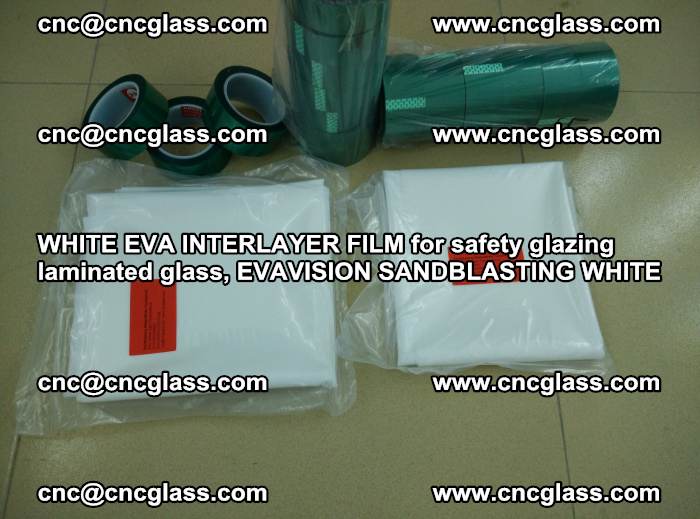 WHITE EVA INTERLAYER FILM for safety glazing laminated glass, EVAVISION SANDBLASTING WHITE (81)