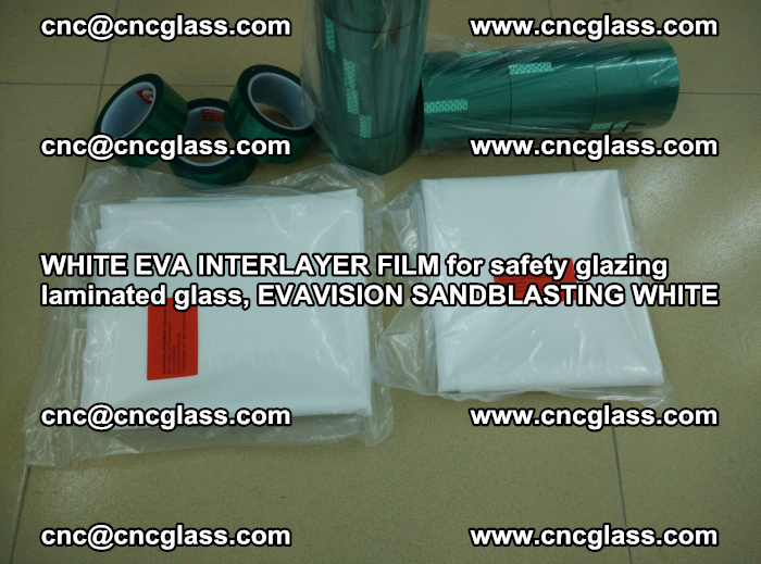 WHITE EVA INTERLAYER FILM for safety glazing laminated glass, EVAVISION SANDBLASTING WHITE (82)