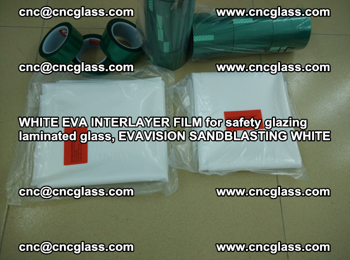 WHITE EVA INTERLAYER FILM for safety glazing laminated glass, EVAVISION SANDBLASTING WHITE (83)