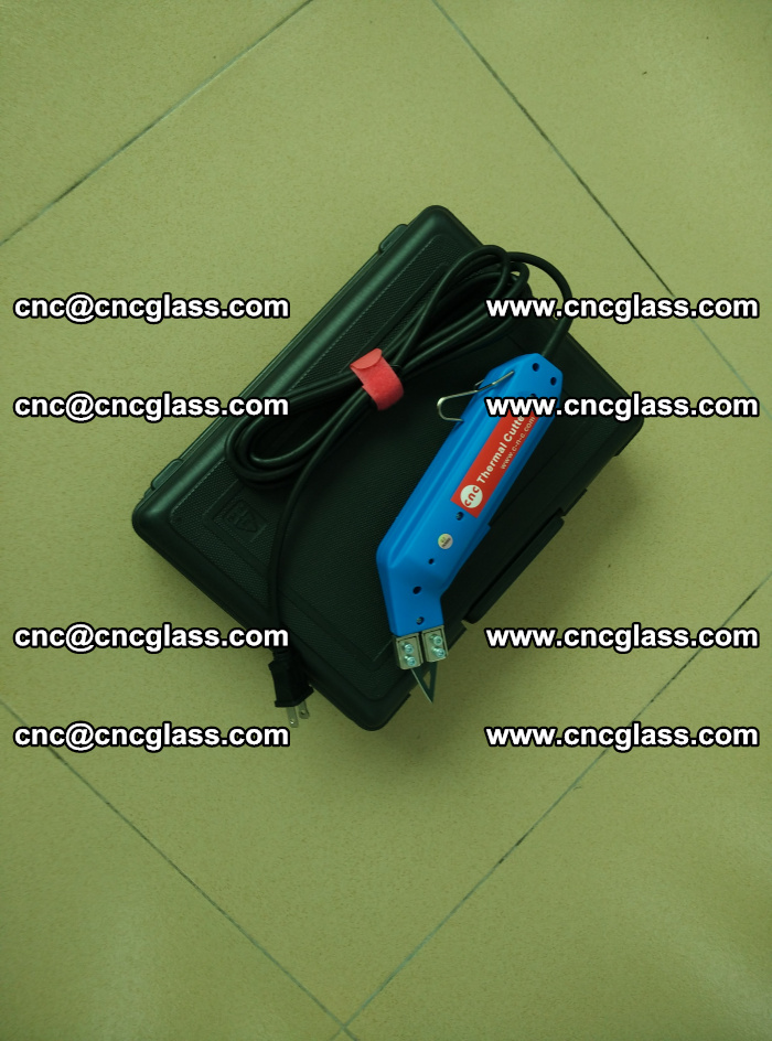 Thermal Knife trimmer for laminated glass edges cleaning (20)