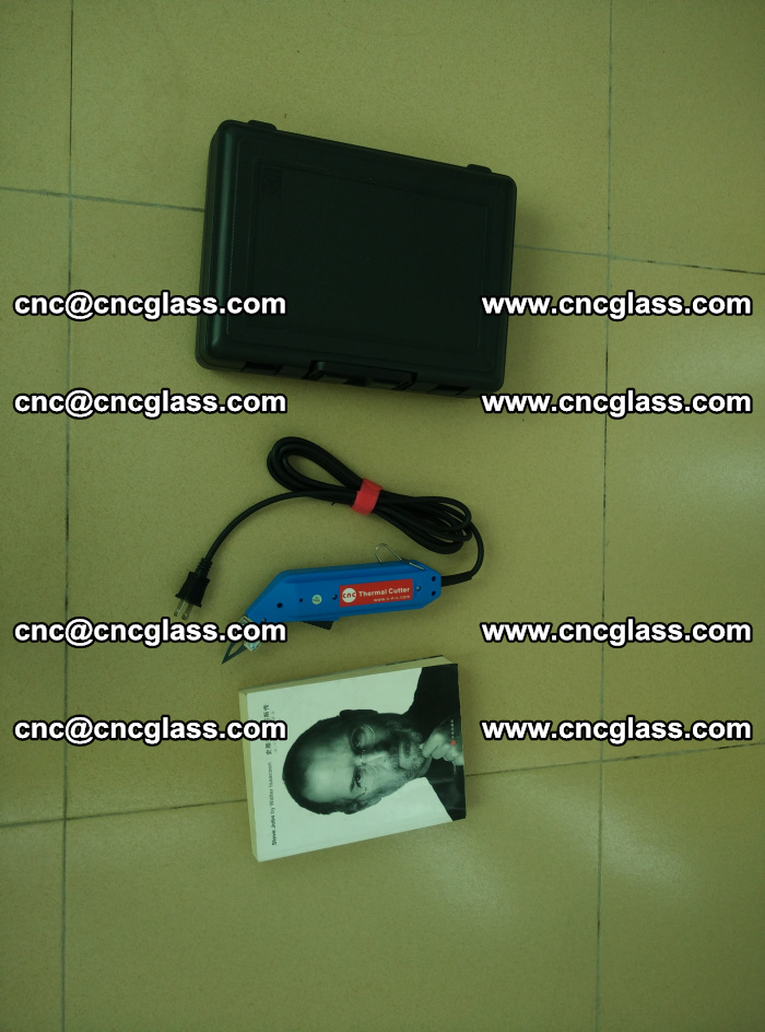 Thermal Knife trimmer for laminated glass edges cleaning (41)