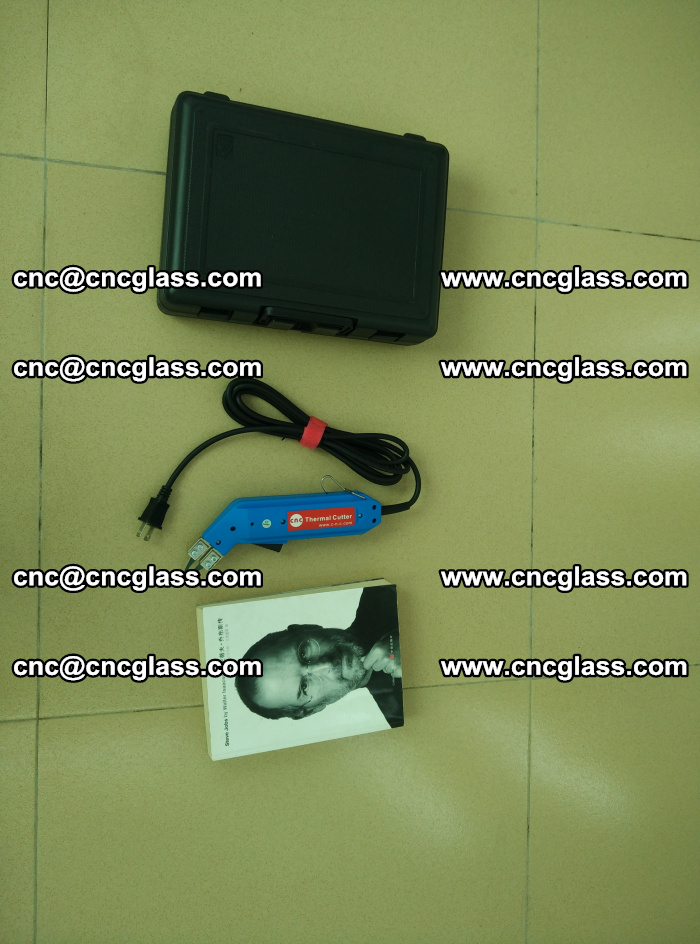 Thermal Knife trimmer for laminated glass edges cleaning (45)
