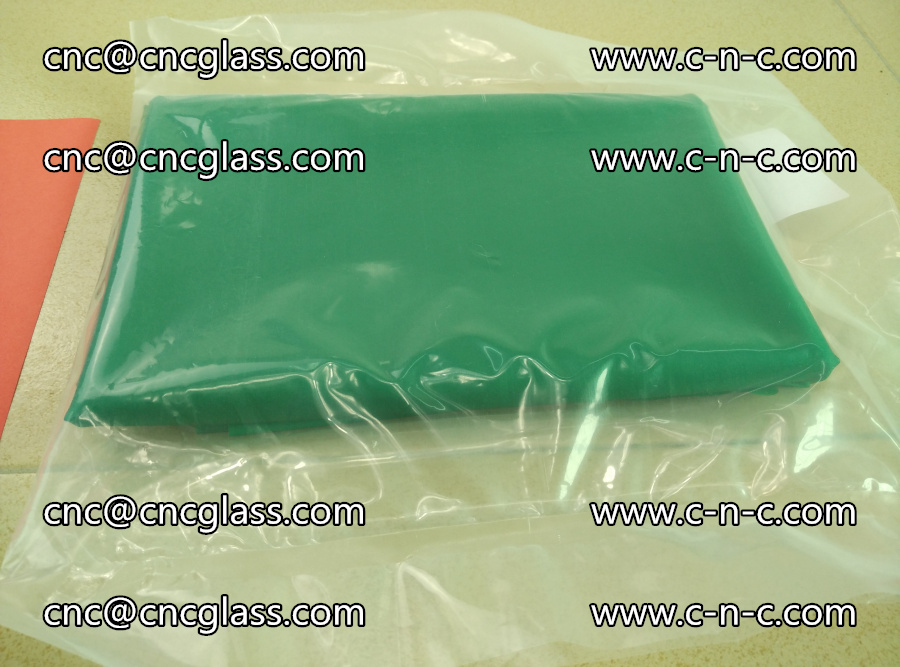 EVA glass interlayer film transparent color green (10)