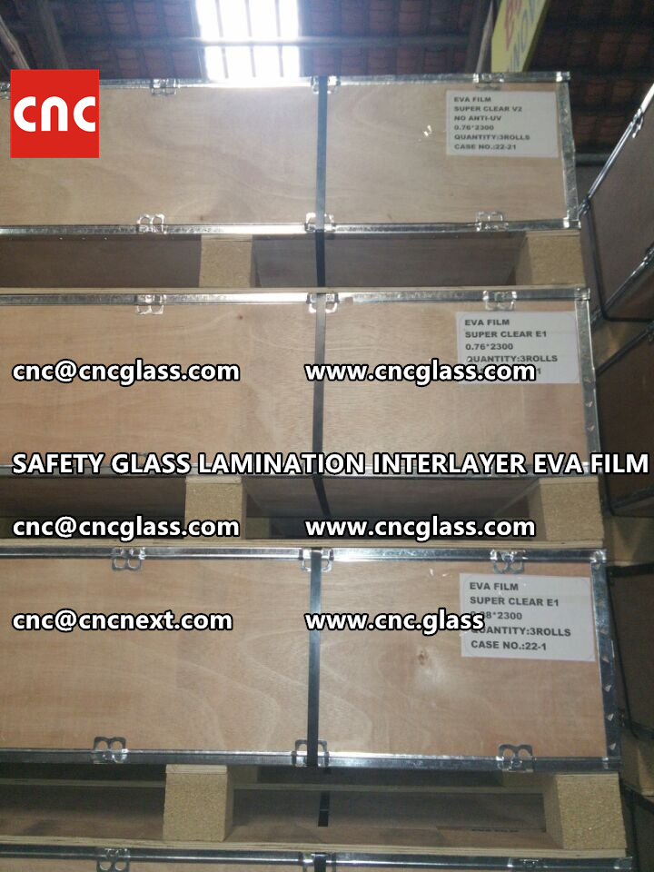 SAFETY GLASS LAMINATION INTERLAYER EVA FILM PACKING LOADING (11)
