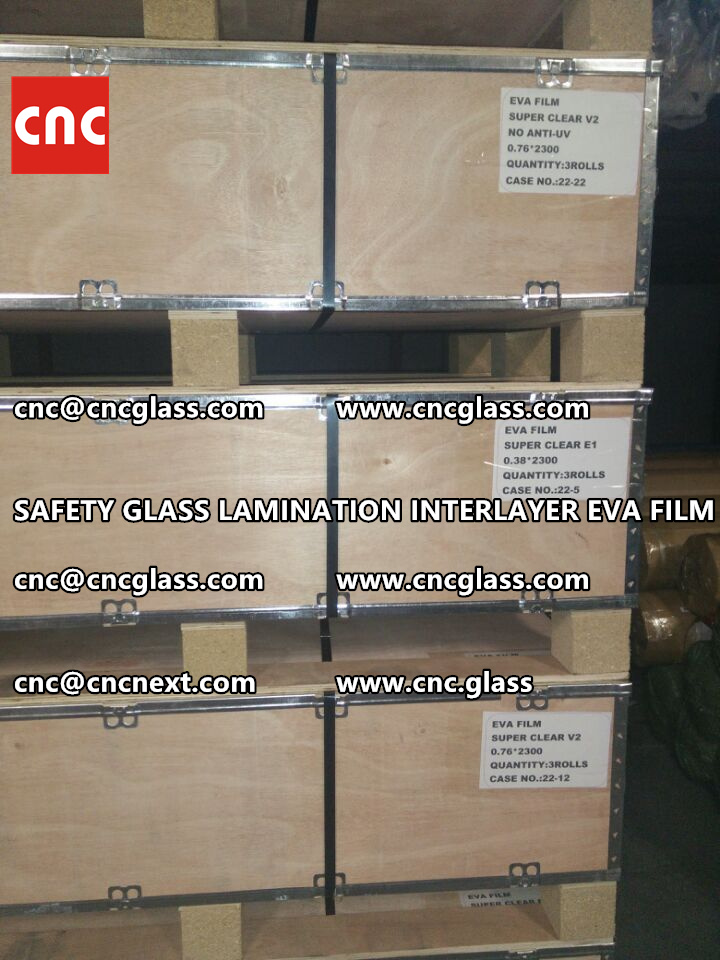 SAFETY GLASS LAMINATION INTERLAYER EVA FILM PACKING LOADING (12)