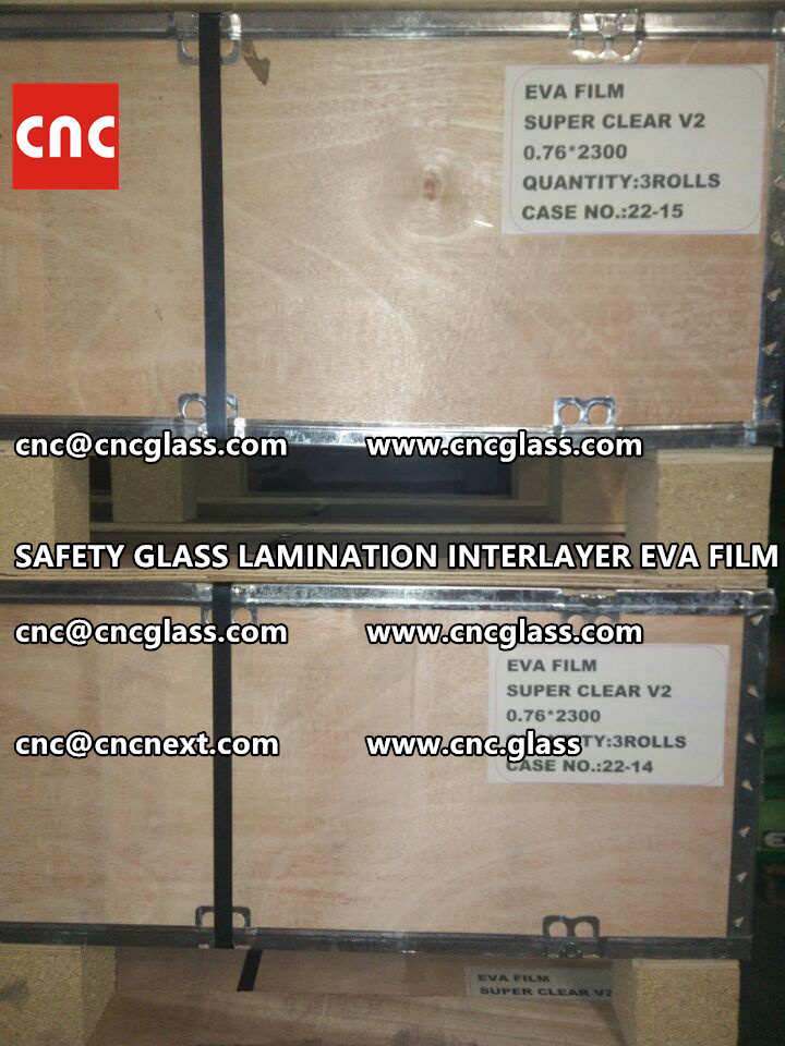 SAFETY GLASS LAMINATION INTERLAYER EVA FILM PACKING LOADING (21)