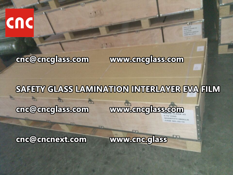 SAFETY GLASS LAMINATION INTERLAYER EVA FILM PACKING LOADING (23)