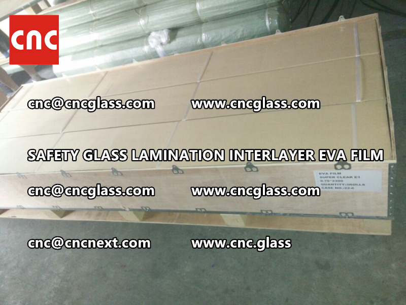 SAFETY GLASS LAMINATION INTERLAYER EVA FILM PACKING LOADING (25)
