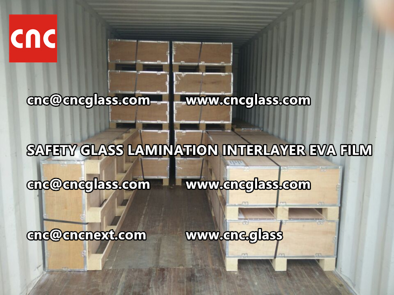 SAFETY GLASS LAMINATION INTERLAYER EVA FILM PACKING LOADING (29)