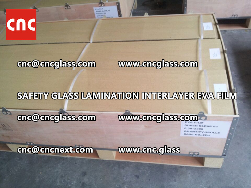 SAFETY GLASS LAMINATION INTERLAYER EVA FILM PACKING LOADING (5)