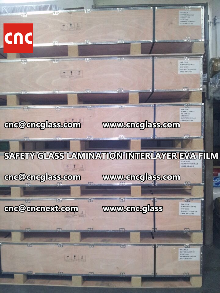 SAFETY GLASS LAMINATION INTERLAYER EVA FILM PACKING LOADING (6)