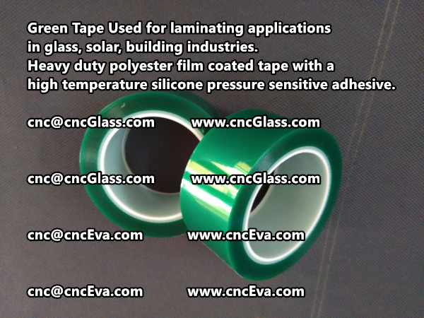 Green Tape is designed for laminating applications in glass laminate, solar encapsulation, automotive, aerospace, and electrical Mechanical industries (6)