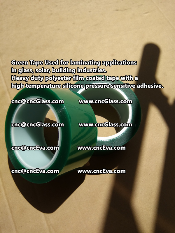 Green tape is made of Heavy duty polyester film coated tape with a high temperature silicone pressure sensitive adhesive (10)