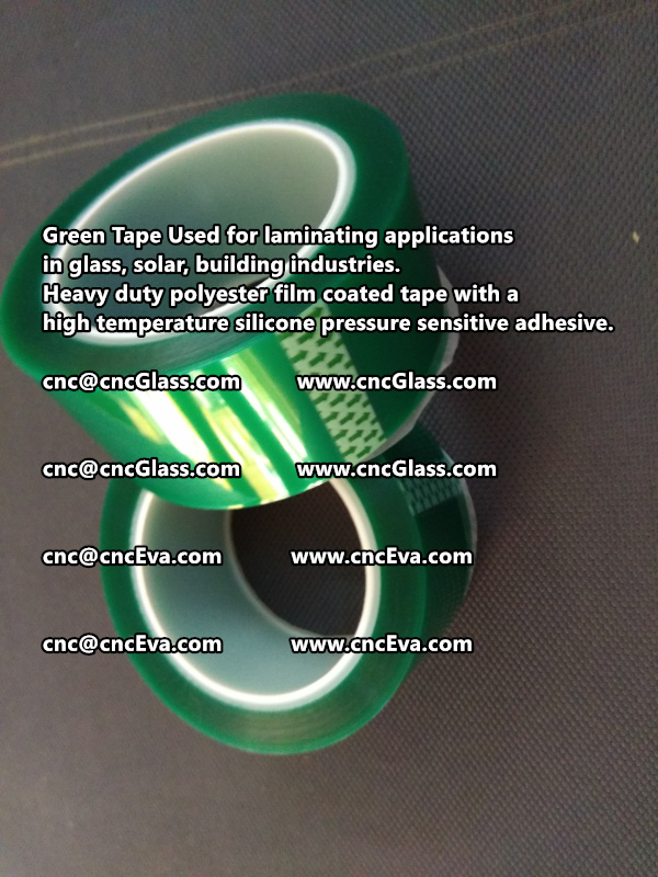 Green tape is made of Heavy duty polyester film coated tape with a high temperature silicone pressure sensitive adhesive (3)
