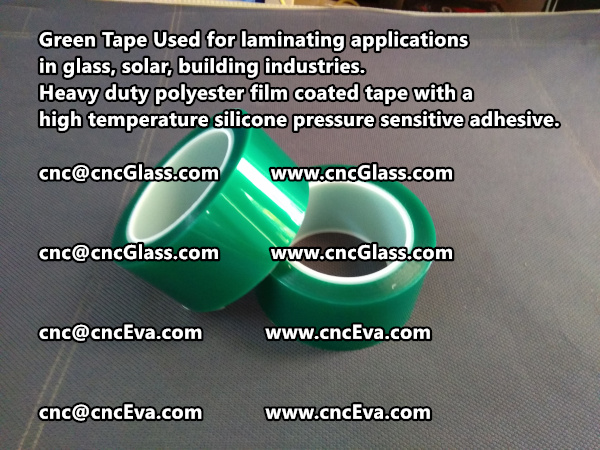 Green tape is made of Heavy duty polyester film coated tape with a high temperature silicone pressure sensitive adhesive (7)
